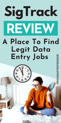 SigTrack Review: Can You Make Money With This Data Entry Job? shareable image