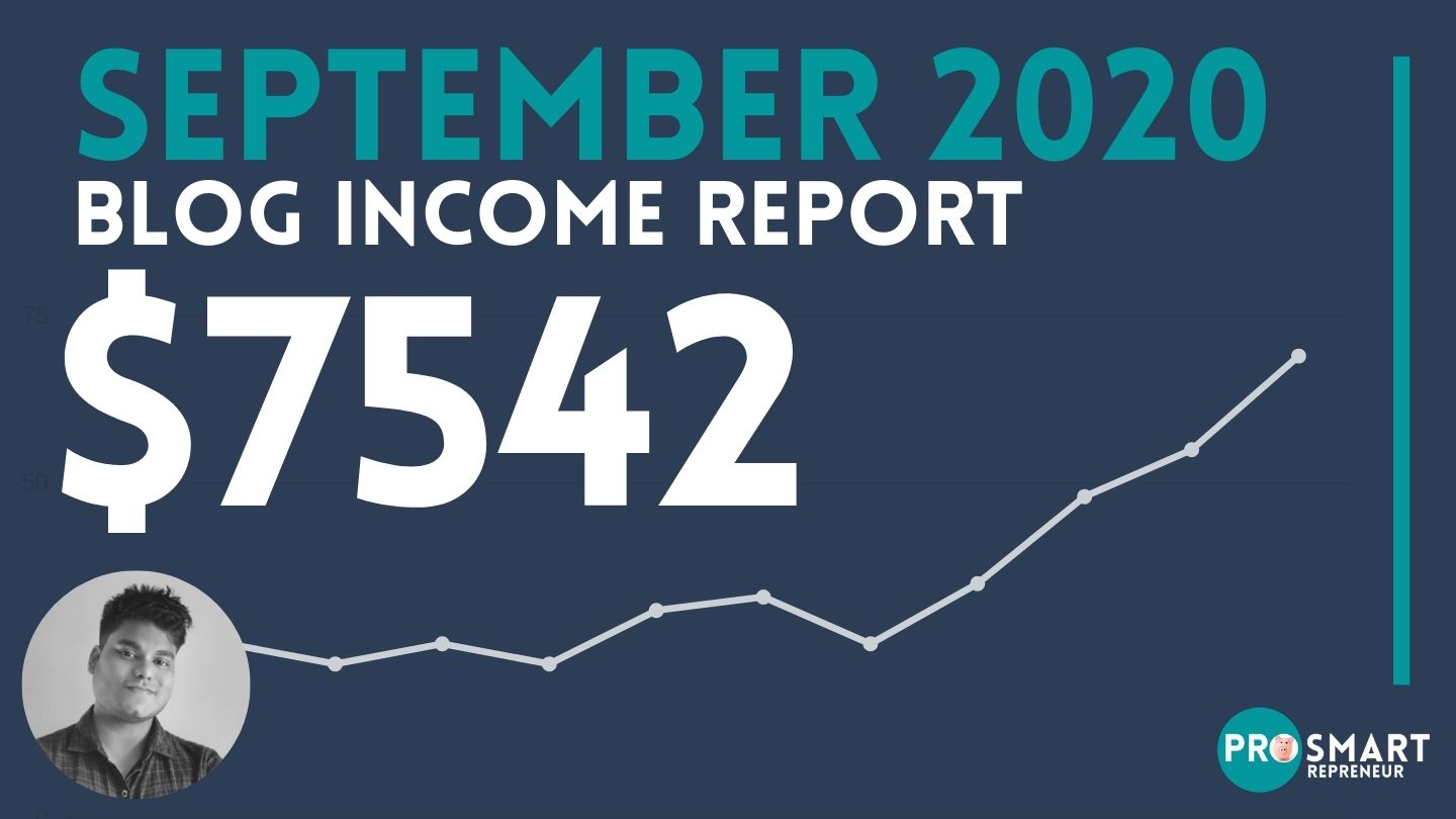 Blog Income Report: How I made $7542 in September 2020